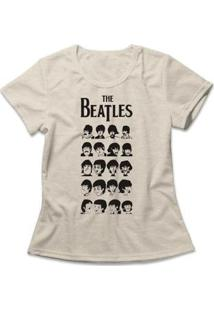 Camiseta Feminina The Beatles - Feminino-Mescla