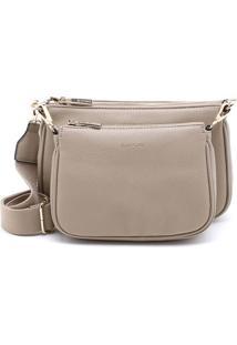 Bolsa Shoulder Bag Bege Caqui - P