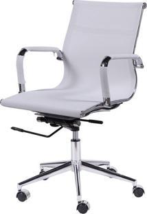 Cadeira Office Eames Em Tela- Branca & Prateada- 97Xor Design