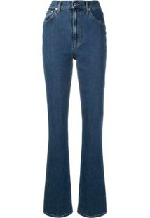 Helmut Lang Femme High Waisted Bootcut Jeans - Azul
