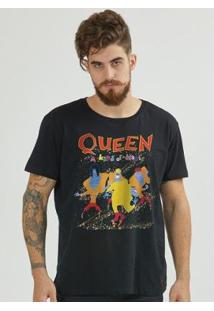 Camiseta Bandup Queen A Kind Of Magic - Masculino-Preto