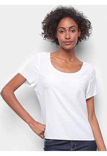 Camiseta Forum Ampla Feminina - Feminino-Areia