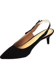 4198e55092 Dafiti. Scarpin Preto Sintético Chanel Sapatos ...