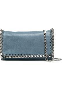 Stella Mccartney Bolsa Transversal Com Alça De Corrente - Azul