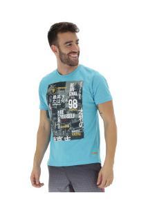 Camiseta Fatal Estampada 20378 - Masculina - Azul