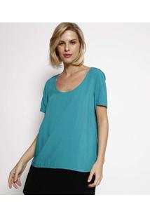 Blusa Lisa Com Vazado- Verdehering