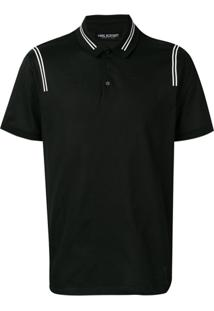 Neil Barrett Contrast Stripe Polo Shirt - 524