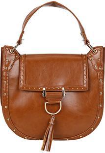 Bolsa Shoestock Saddle Paola Feminina - Feminino-Caramelo