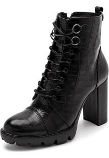 Bota Sandalo Clave De Fa Piaf Preto - Kanui