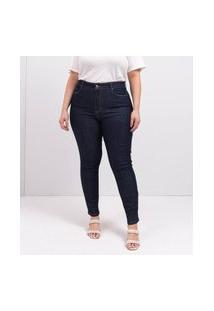 Calça Skinny Básica Curve E Plus Size Azul