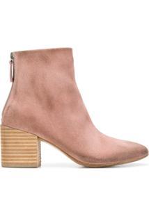 Marsèll Ankle Boot De Couro - Rosa