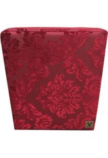 Puff Quadrado Alce Couch Jacquard Classic Vermelho 45Cm - Vermelho - Dafiti