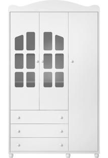 Guarda Roupa Royalli 03 Portas Branco Liso Batteto Loncarcci