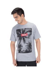 Camiseta Fatal Estampada 20326 - Masculina - Cinza Claro
