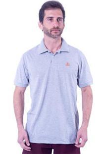 Camisa Polo Clube Náutico Slim Basic Masculina - Masculino-Cinza
