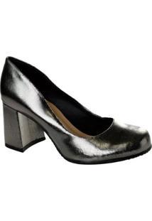 Scarpin Metalizado Tanara - Feminino-Prata
