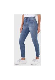 Calça Jeans Dzarm Skinny Aplicações Azul