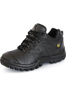 Coturno Tchwm Shoes Cano Baixo Adventure Couro Preto