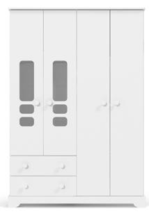 Roupeiro 4 Portas Smart Branco-Brilho Matic