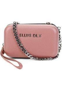 Bolsa Ellus Clutch Clássica Feminina - Feminino-Rosê