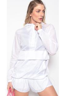 Jaqueta Com Recortes E Capuz- Branco- Body For Surebody For Sure