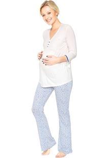 Pijama Malwee Liberta Animal Print Branco