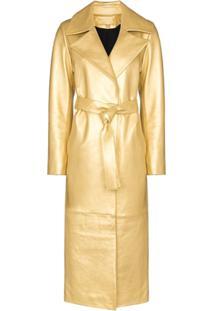 Skiim Trench Coat Karla Com Amarração - Dourado
