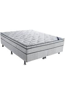 Cama Box Queen Ortobom Light Nanolastic 158X198X62 Cm Molas Bonnel