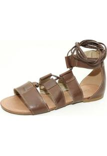 Sandalia Top Franca Shoes Gladiadora Feminina - Feminino-Cafe