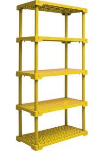 Estante Cube Com 5 Prateleiras Amarelo