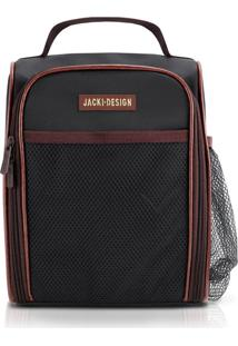 Bolsa Térmica Com Alça E Bolos Externos Jacki Design Ahl17376 Preta E Marrom