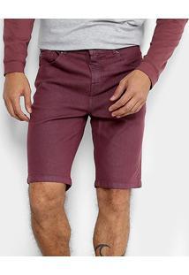Bermuda Jeans Quiksilver Street Color Masculina - Masculino-Vinho