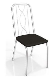 Cadeira Kappesberg Viena 2C072Cr (2 Unidades) Cromad/Preto
