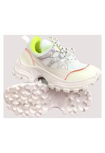 Tênis Sneaker Gait Betta Branco Fluor