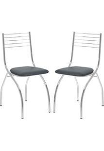 Cadeira 146 Cromada 02 Unidades Jeans Carraro