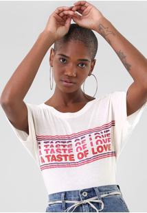 Blusa Ellus Taste Of Love Off-White