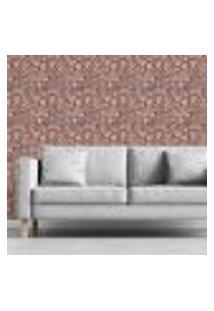 Papel De Parede Adesivo Abstrato Cáfé Rosa N03083 Rl 0,58X3M
