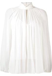 Givenchy Knotted Blouse - Branco