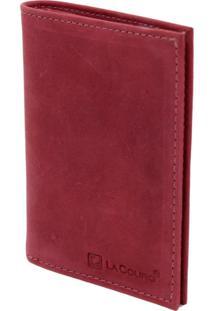Carteira Compacta Lacouro Em Couro Fossil Vermelho Ref 3002