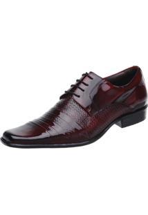 Sapato Social Malbork Dark Red