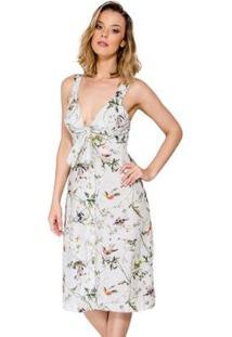 Vestido Midi Estampa Floral Colcci - Feminino-Verde Claro