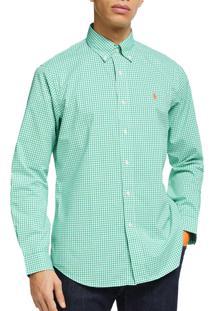 Camisa Ralph Lauren Poplin Green Caribbeam