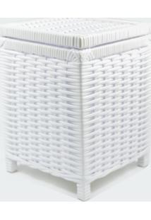 Lixeira / Papeleiro Lavabo E Escritório Fibra Sintetica 22X22X30 - Branco - Kanui