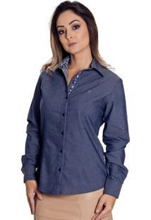 Camisa Pimenta Rosada Madeleine - Feminino-Azul