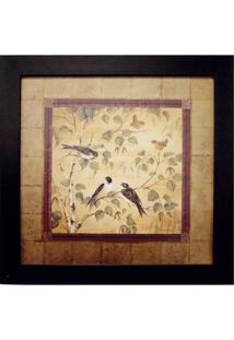 Quadro Birds I Imbuia 35X35 Cm Kapos