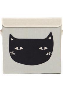 Caixa Organizadora Infantil Com Tampa - Gato