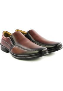 Sapato Rafarillo - Masculino-Marrom Escuro+Preto