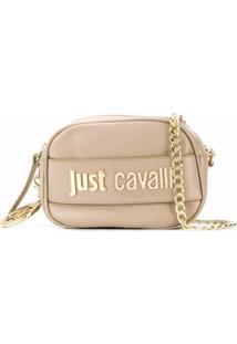 Just Cavalli Bolsa Transversal Com Placa De Logo - Neutro