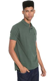 Camisa Polo Triton Reta Textura Verde