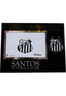 Porta Retrato Minas De Presentes De Vidro 1 Foto 10X15Cm - Santos Preto